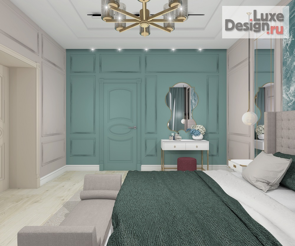 """Дизайн интерьера спальни """"Проект спальни в современной классике"""" (фото 2)"""